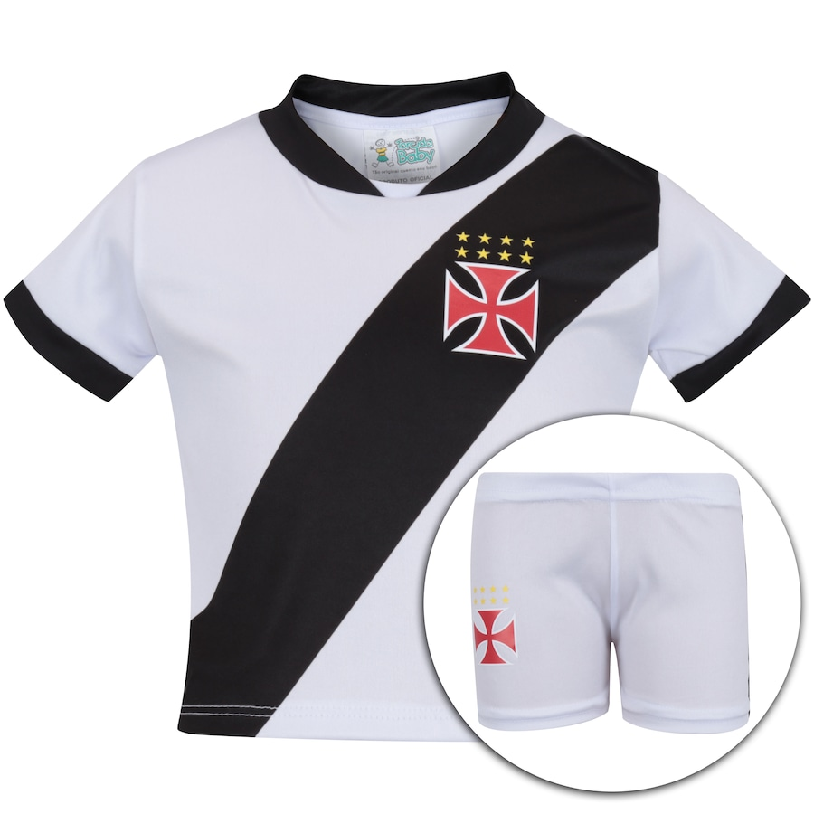 17791e2f12 Kit Uniforme Futebol Vasco da Gama para Bebê - Infantil