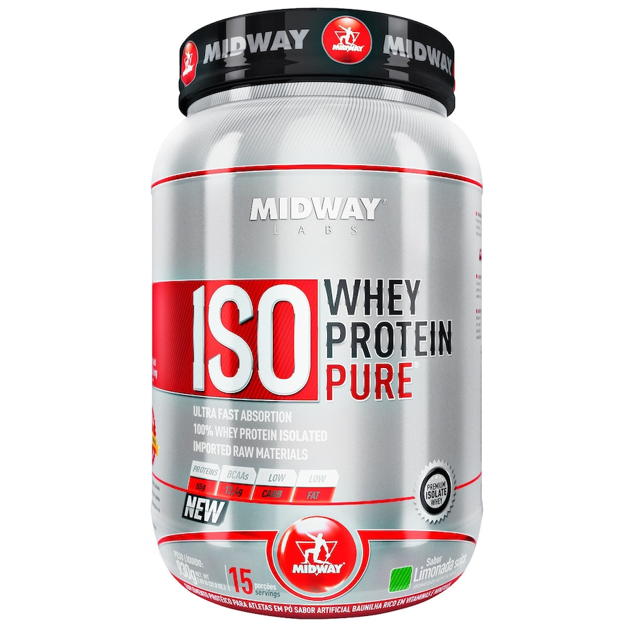 216c989ce Whey Protein Isolado Midway Iso Whey Protein Pure - Limonad