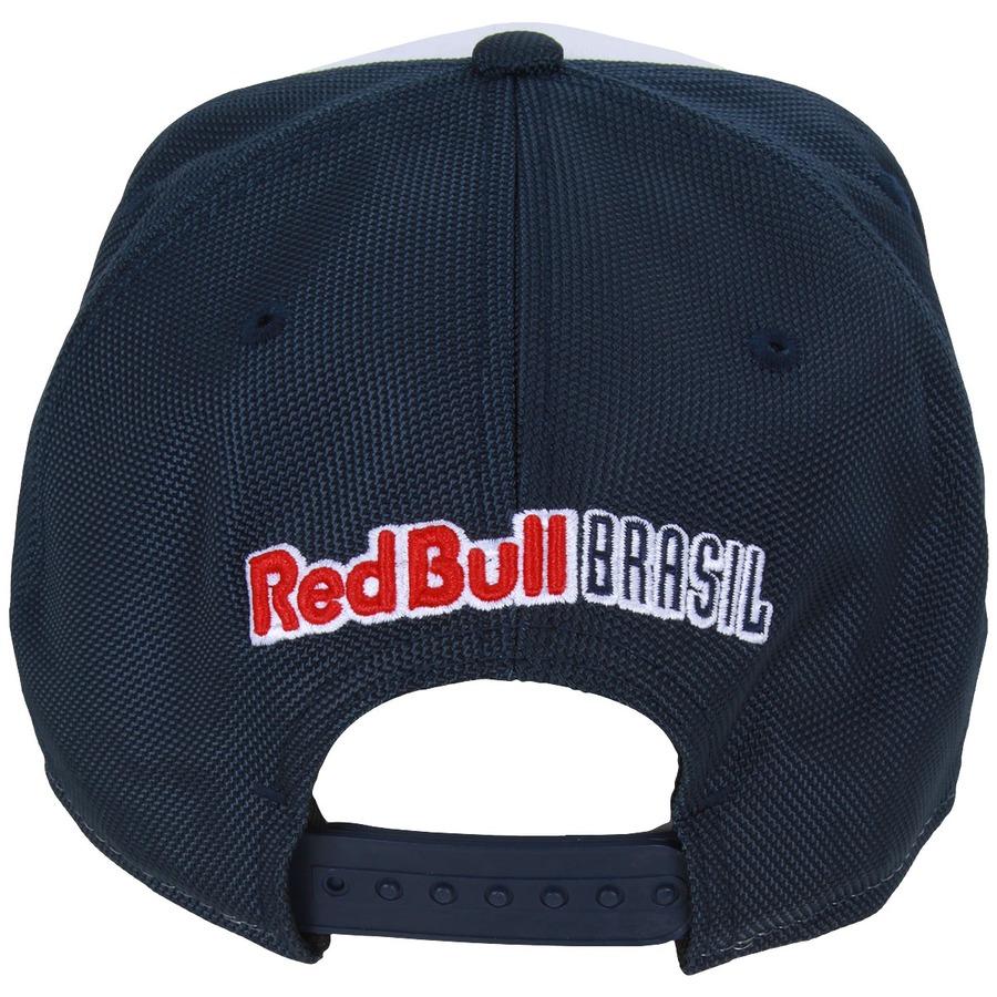 ... Boné aba reta New Era Red Bull Brasil Triple - Regulável ... ae652ce6f4c