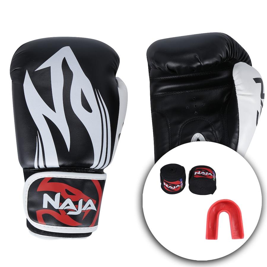 92e650025 Kit de Boxe Naja  Bandagem + Protetor Bucal + Luvas de Boxe