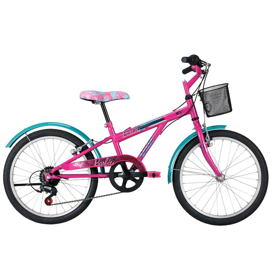 c3a60b6c6 Bicicleta Caloi Barbie - Aro 20 - Câmbio Caloi - Infantil