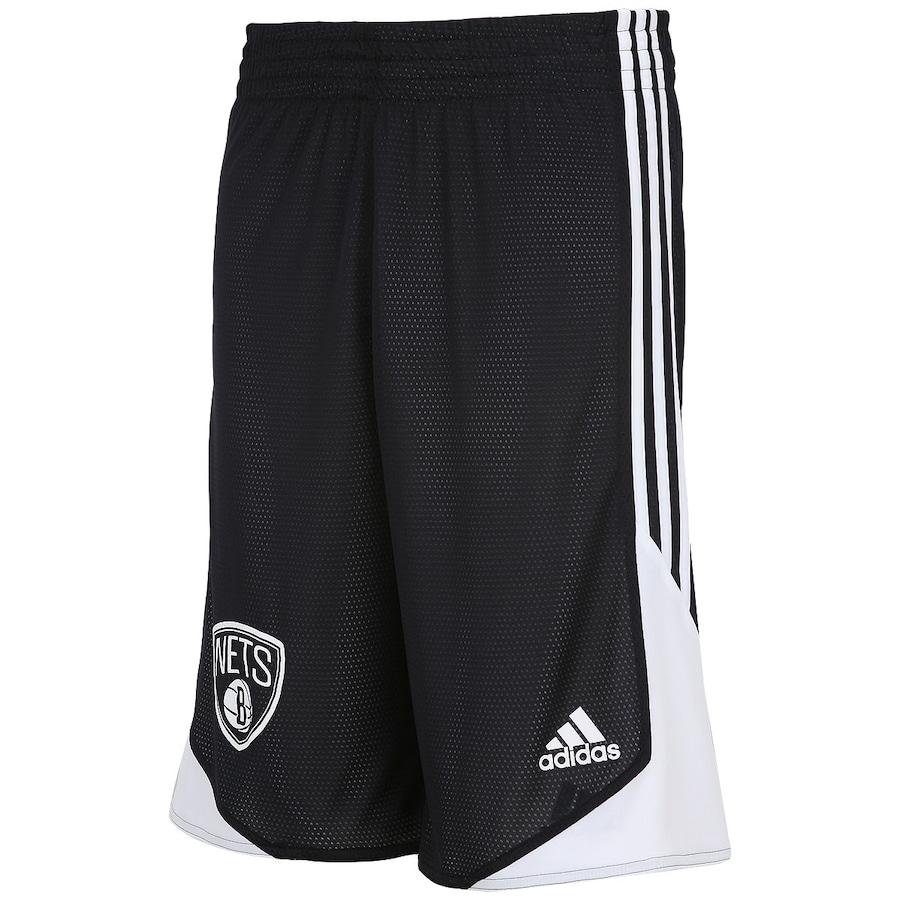 Bermuda Adidas NBA Brooklyn Nets Reversível Masculina bc1dda1ca1590