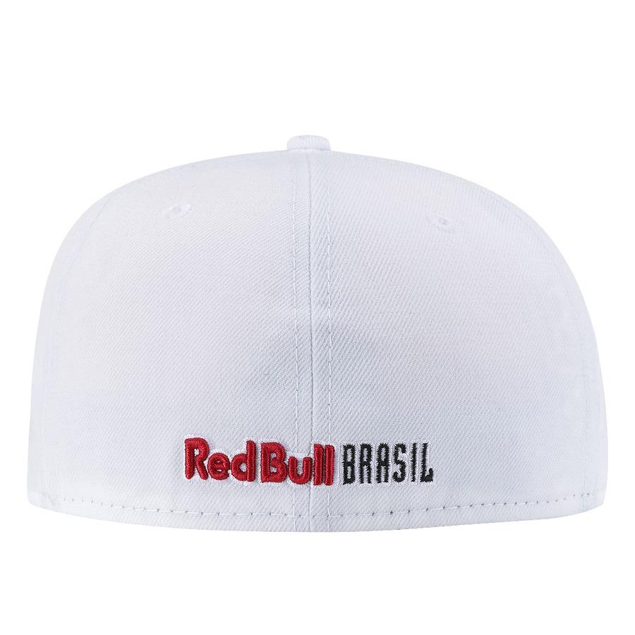 6797d7090cfce ... Boné Aba Reta New Era Red Bull Brasil Total White - Fechado - Adulto ...