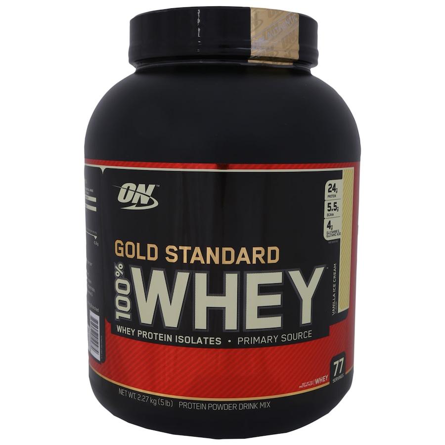 7a20d4430 Whey Protein Isolado Optimum Nutrition 100% Whey 77 Porções