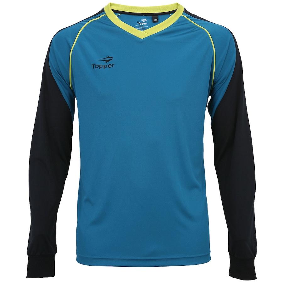 48702c77a59d3 Camisa de Goleiro Manga Longa Topper com Proteção