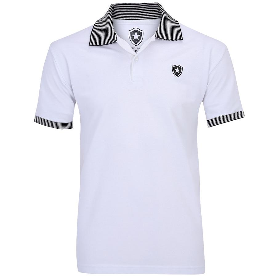 de7372e16c Camisa Polo Botafogo Gola Listrada Masculina
