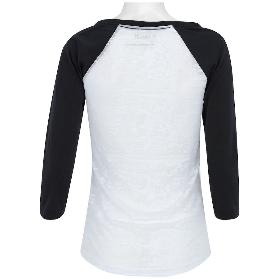 2e8c183ccf3e7 Camiseta 3 4 Hurley Raglan Compresso Feminina