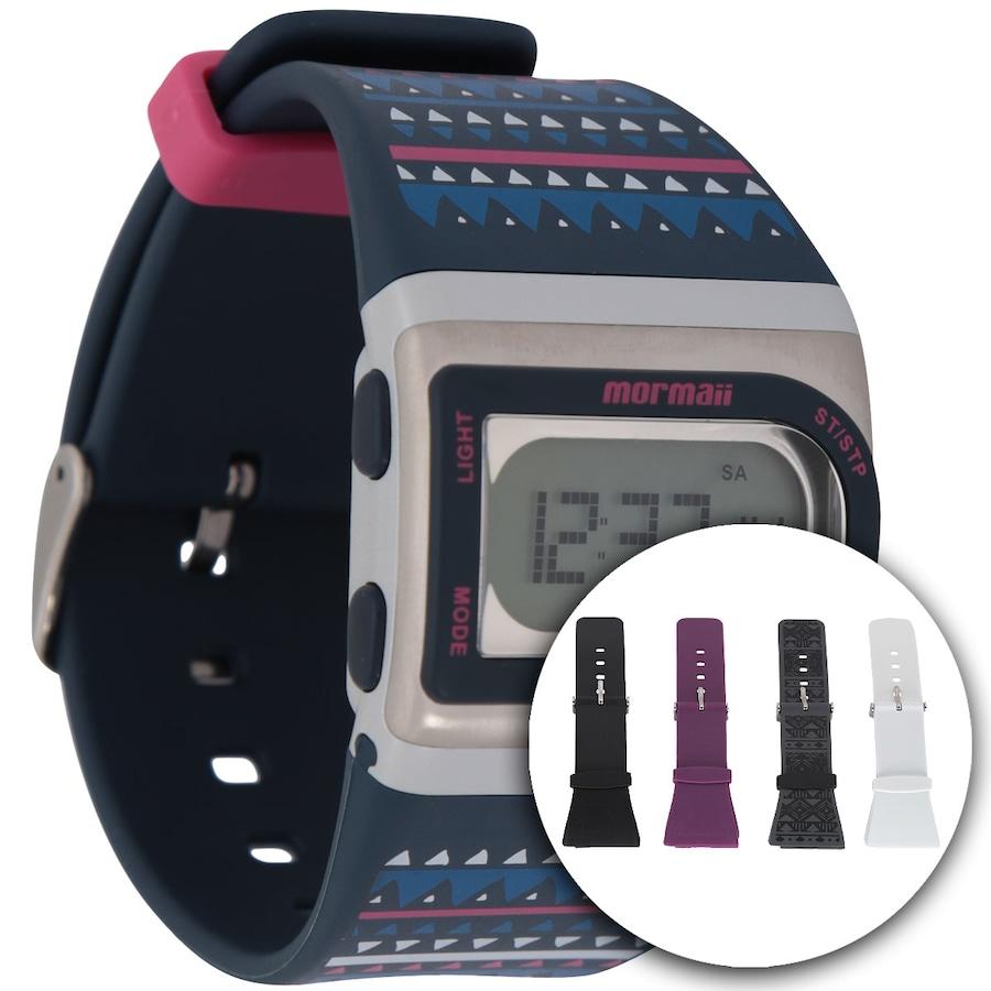 9b82c156667 Relógio Feminino Digital Mormaii Troca De Pulseiras Fzg8f