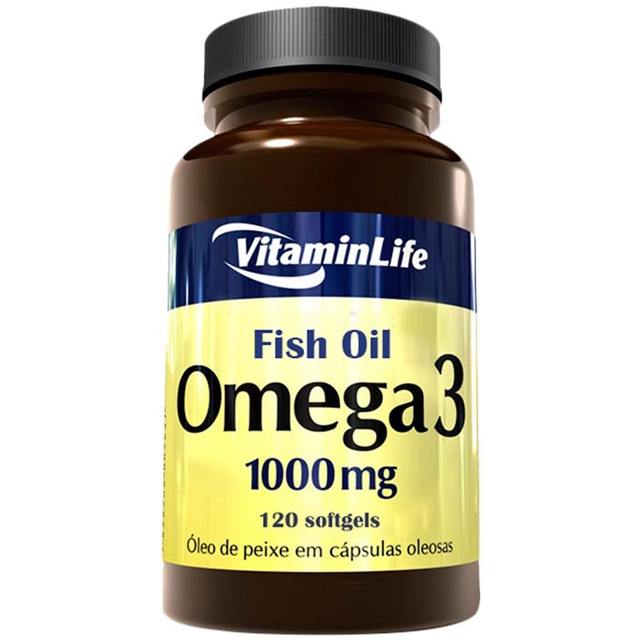 9b3ef1e94 Óleo de Peixe VitaminLife Ômega 3 - 120 Cápsulas em Gel