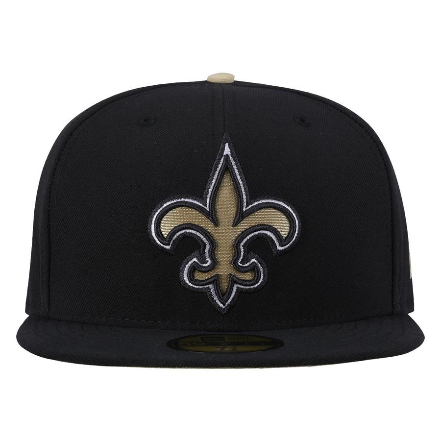 Boné Aba Reta New Era New Orleans Saints NFL - Fechado - Ad b6a18b8fd20
