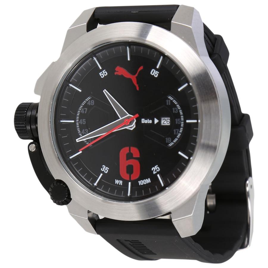 be023750080 Relógio Masculino Analógico Puma 96233G0 Silicone