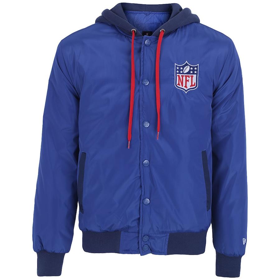 Jaqueta College com Capuz New Era NFL Fabric Mix Masculina c055cb6ec0881