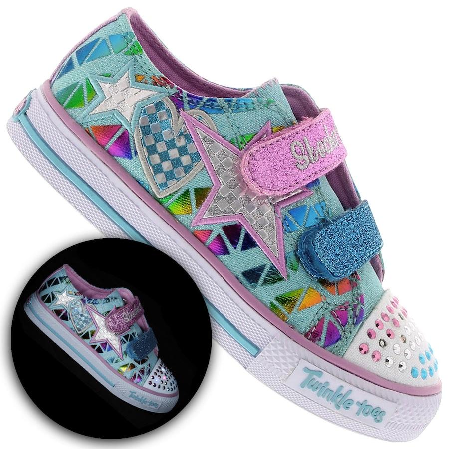 65fa623a5 Tênis Skechers Classy Sassy c  Velcro - Feminino - Infantil