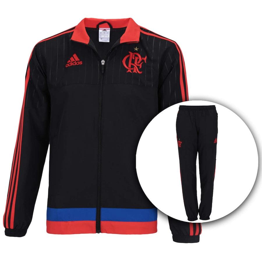 Agasalho de Treino do Flamengo adidas Viagem 2015 80661bab834d3