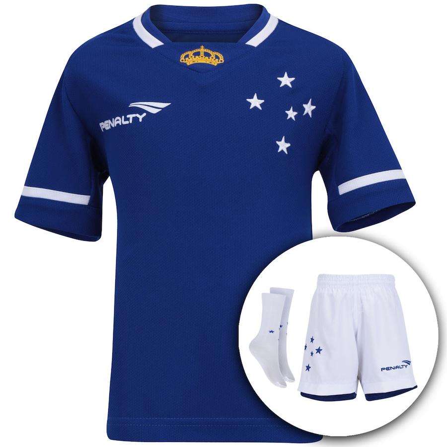 a97b11600d Kit Uniforme do Cruzeiro I 2015 Penalty Infantil