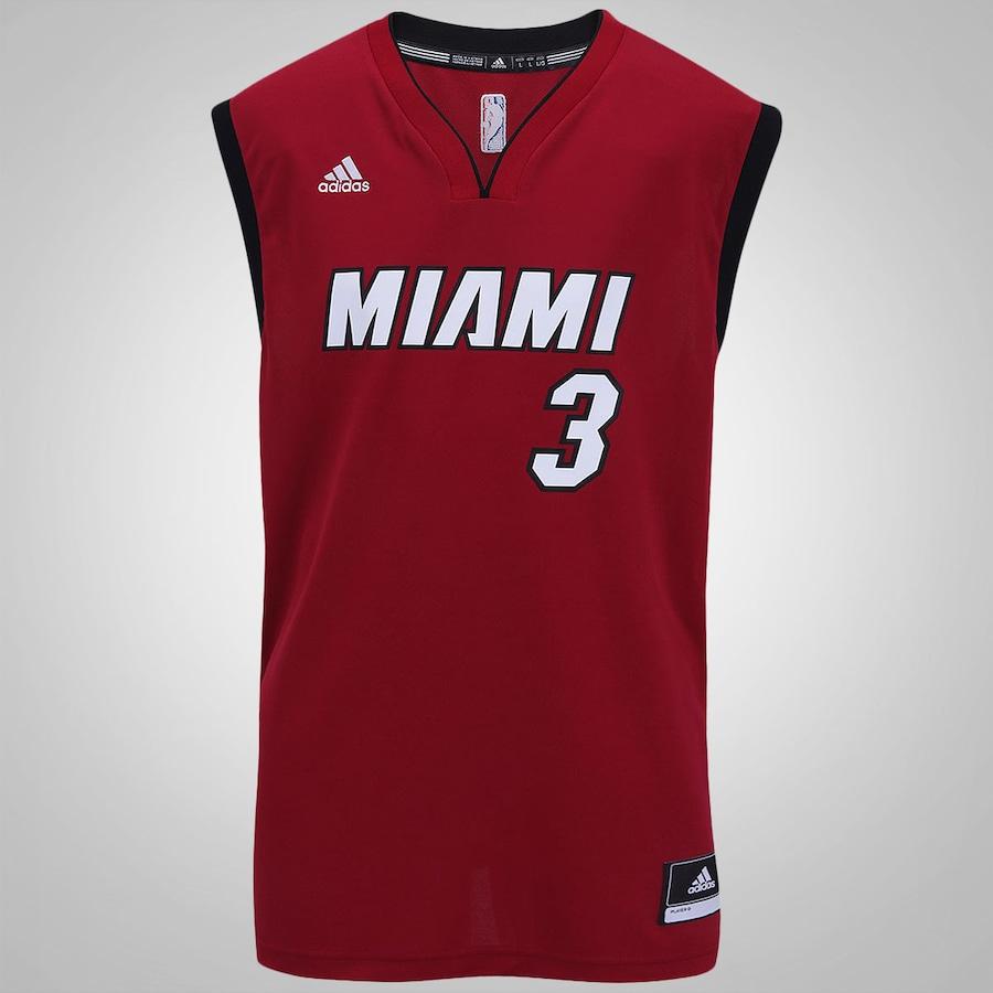 97a34c53f2 Camiseta Regata Adidas NBA Miami Heat Masculina