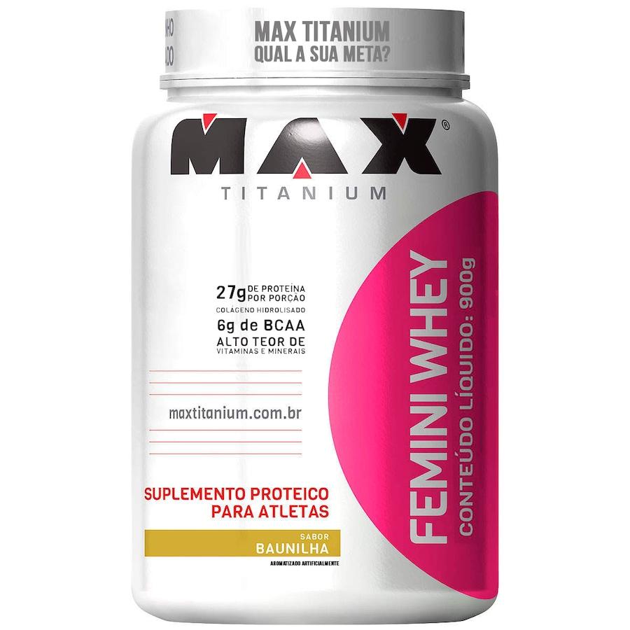 dc645851e Whey Protein Max Titanium Femini Whey - Baunilha - 900g