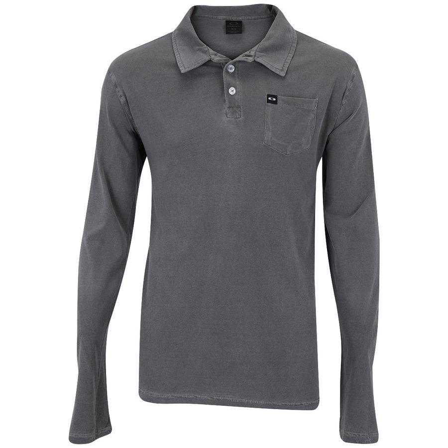 Camisa Polo Manga Longa Oakley Stone - Masculina fce4d206768f3
