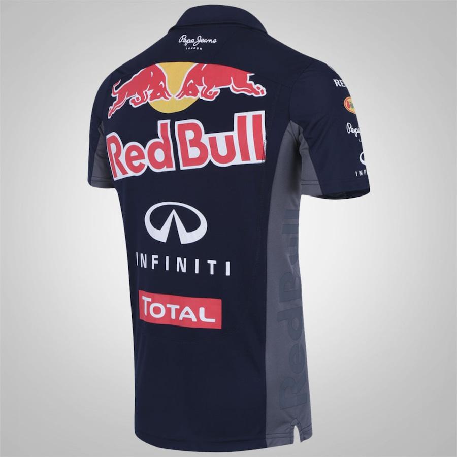 0f1051e65dc1e Camisa Polo Red Bull Racing Funcion Teamwear - Masculina