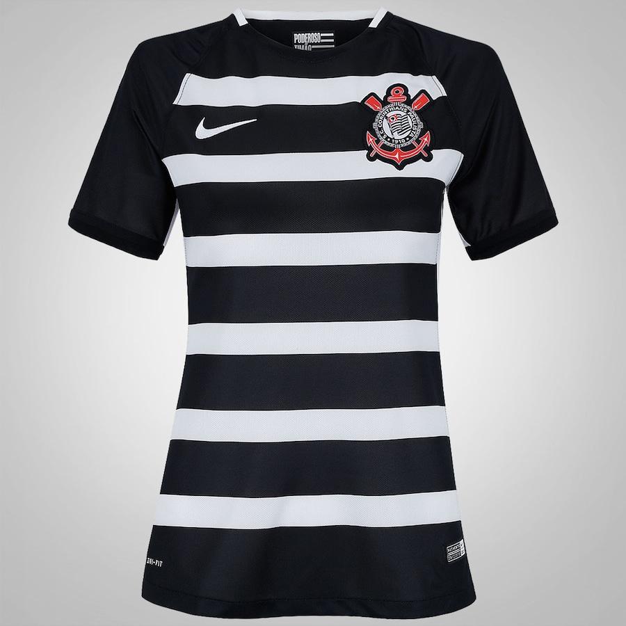65f73b840b36c Camisa do Corinthians II 2015 Nike - Torcedor - Feminina