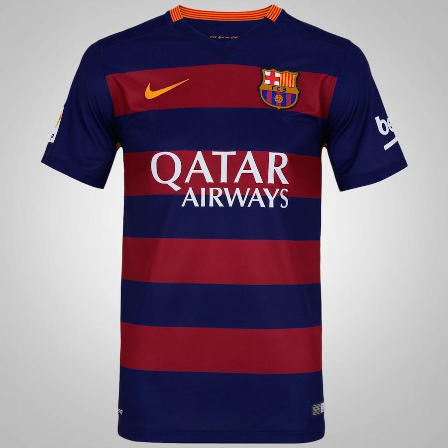 Camisa Barcelona I 15 16 Nike - Masculina 77dc8225deb55