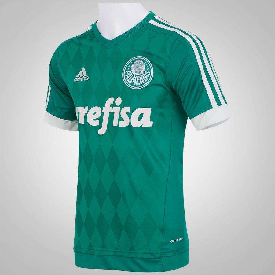 Camisa do Palmeiras I 2015 adidas c  Patrocínio - Masculina efffea0f8d9c0