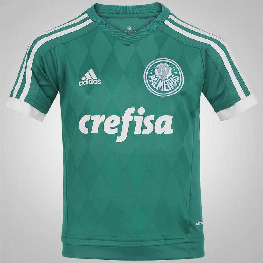 97dcf125b1 Camisa do Palmeiras I 2015 adidas Infantil