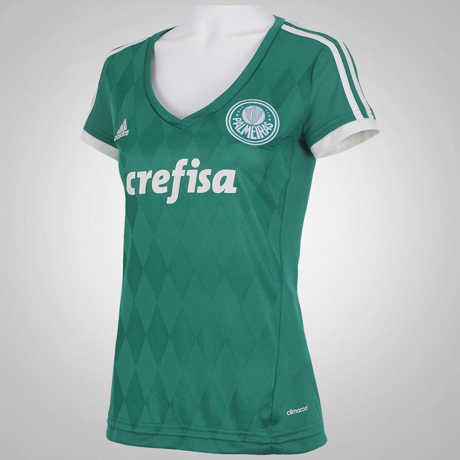 ... Camisa do Palmeiras I 2015 adidas - Feminina ... fd6c991759a1d