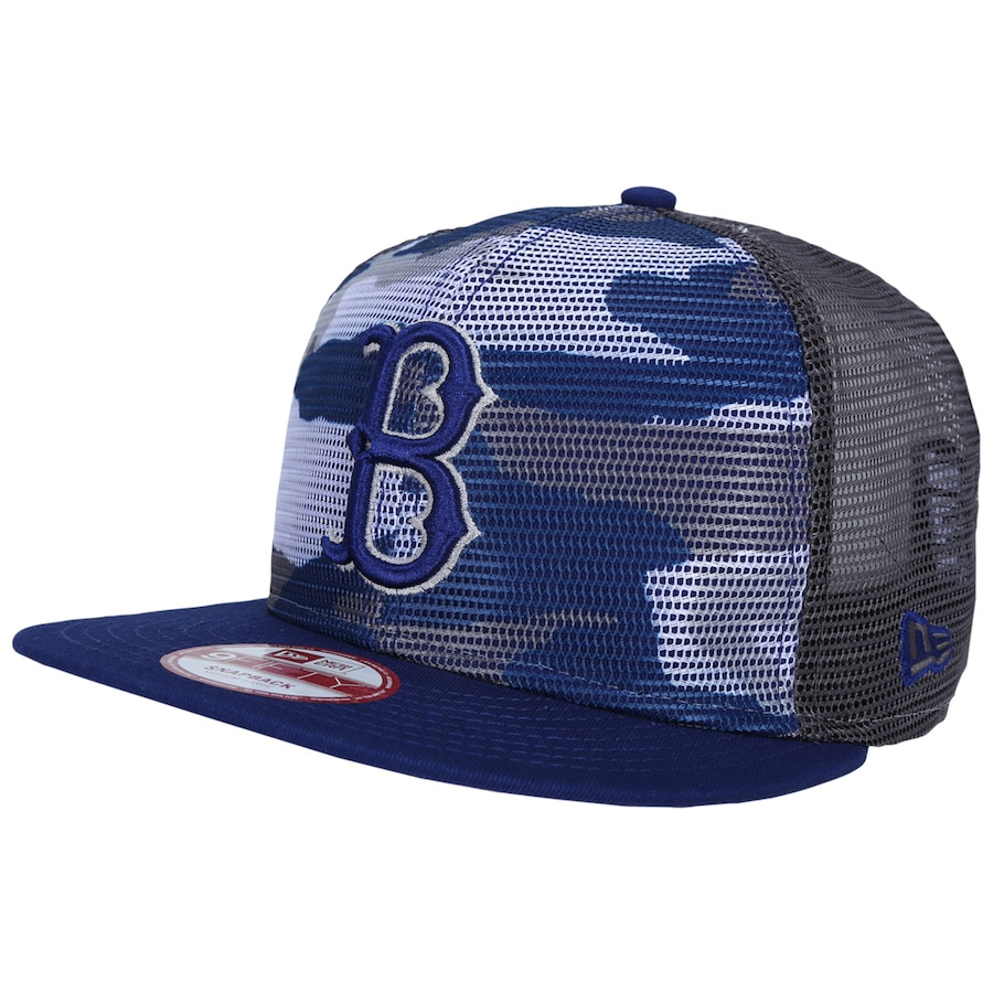 Boné Aba Reta New Era Boston Red Sox Snapback Trucker Azul 9a8acb4431a