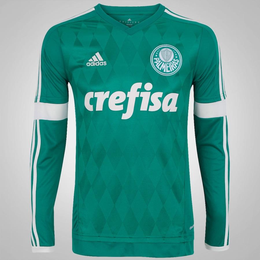 Camisa do Palmeiras Manga Longa I 2015 adidas 9c84f1eb209e5