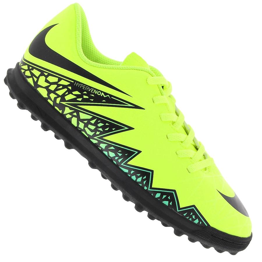Chuteira Society Nike Hypervenom Phade II TF - Infantil 22650fc49bc66