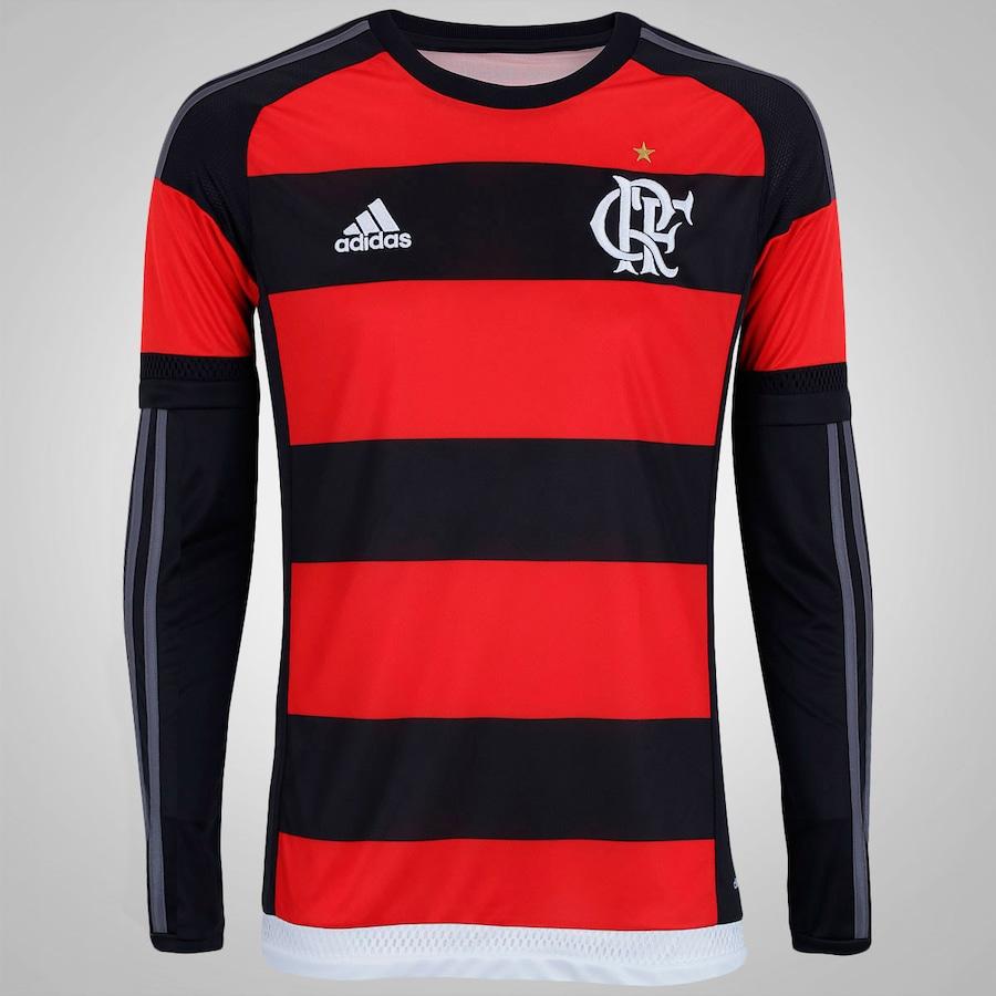 Camisa Manga Longa do Flamengo I 15 16 adidas - Masculina c6371024e646c