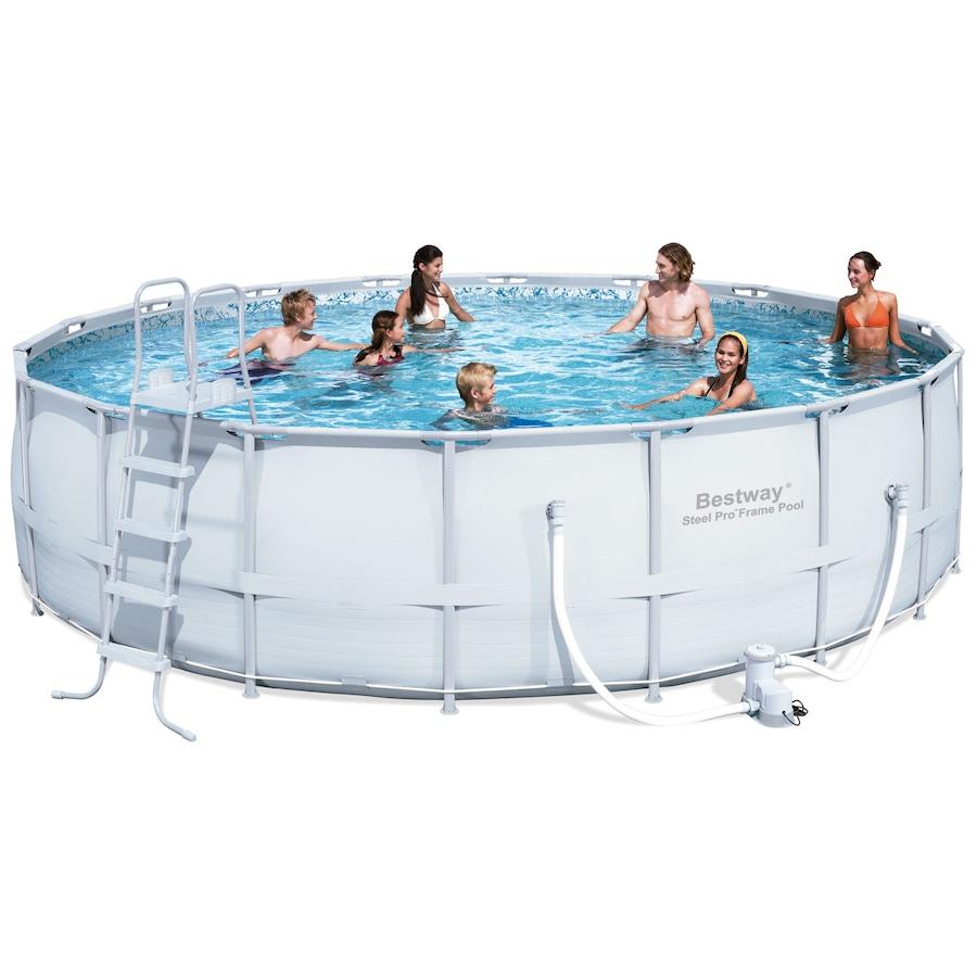 Piscina Redonda Estruturada Bestway Frame Pool Litro