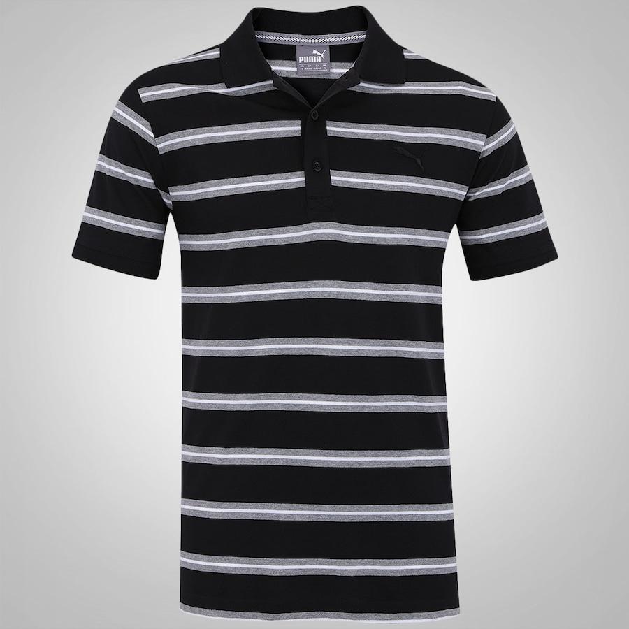 ff18136865 Camisa Polo Puma Fun Stripe Jersey - Masculina