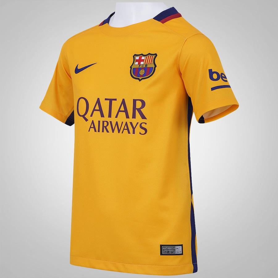 Camisa Barcelona II 15 16 Nike - Infantil 59920d7180159