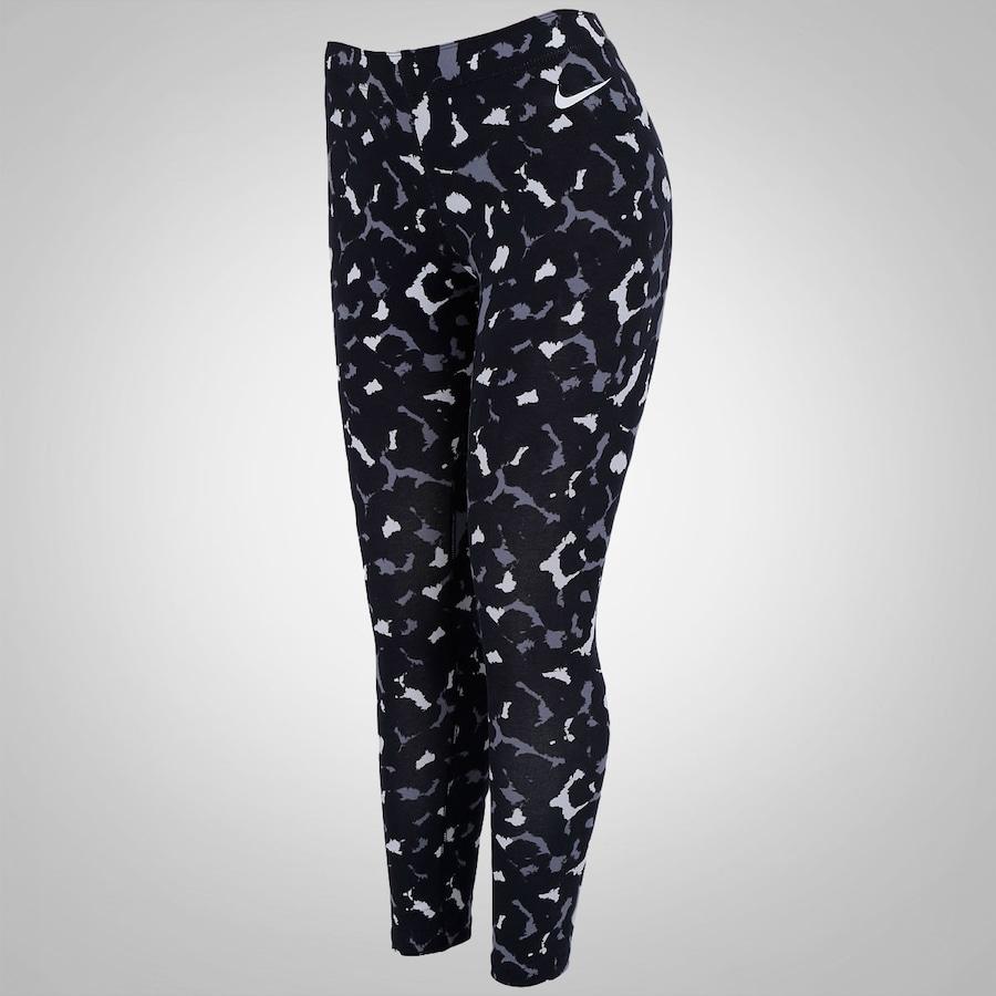 Calça Legging Estampada Nike Club Cropped - Feminina 4e86b0ee44