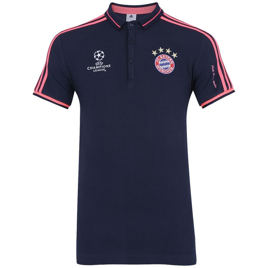 9b788e2c35 Camisa Polo de Viagem Bayern Munique 15 adidas Masculina