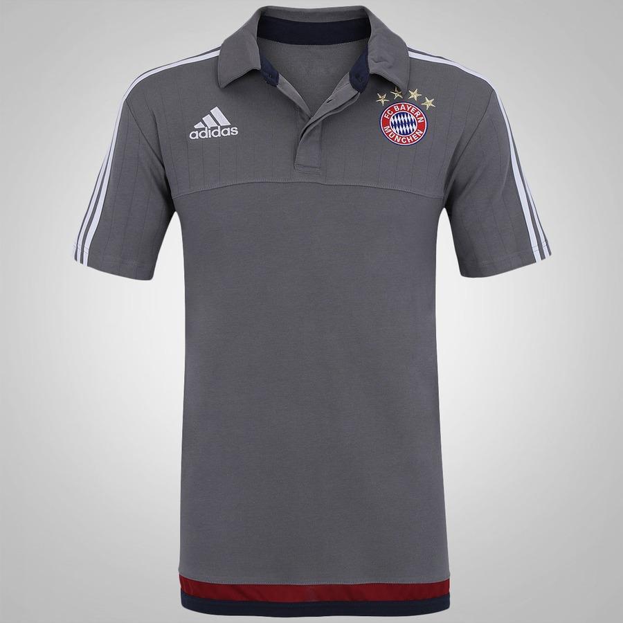 3a0bcf100e Camisa Polo de Viagem adidas Bayern de Munique 15 Masculi