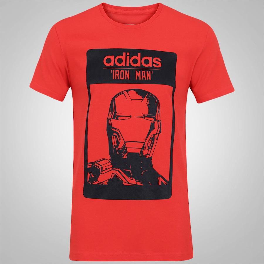 Camiseta adidas Homem de Ferro Masculina b5777d6b6a390
