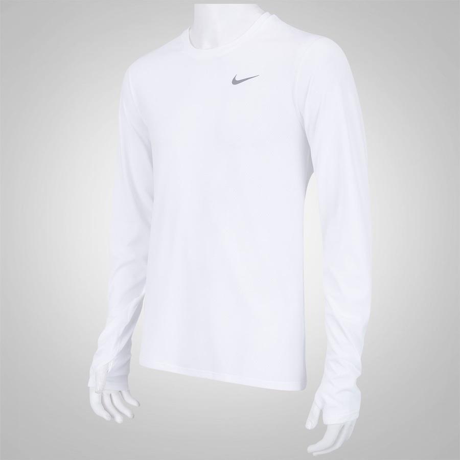 Camiseta Manga Longa Nike Dri-Fit Contou - Masculina 7200279c7bf3d