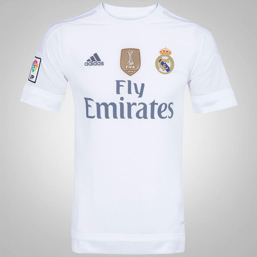 Camisa do Real Madrid I 15 16 s n° adidas 477b66408ec86