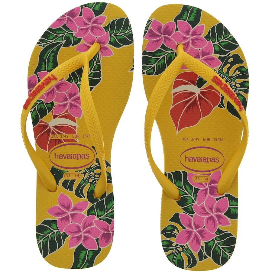 9283cb21e Chinelo Havainas Slim Floral 16 - Feminino