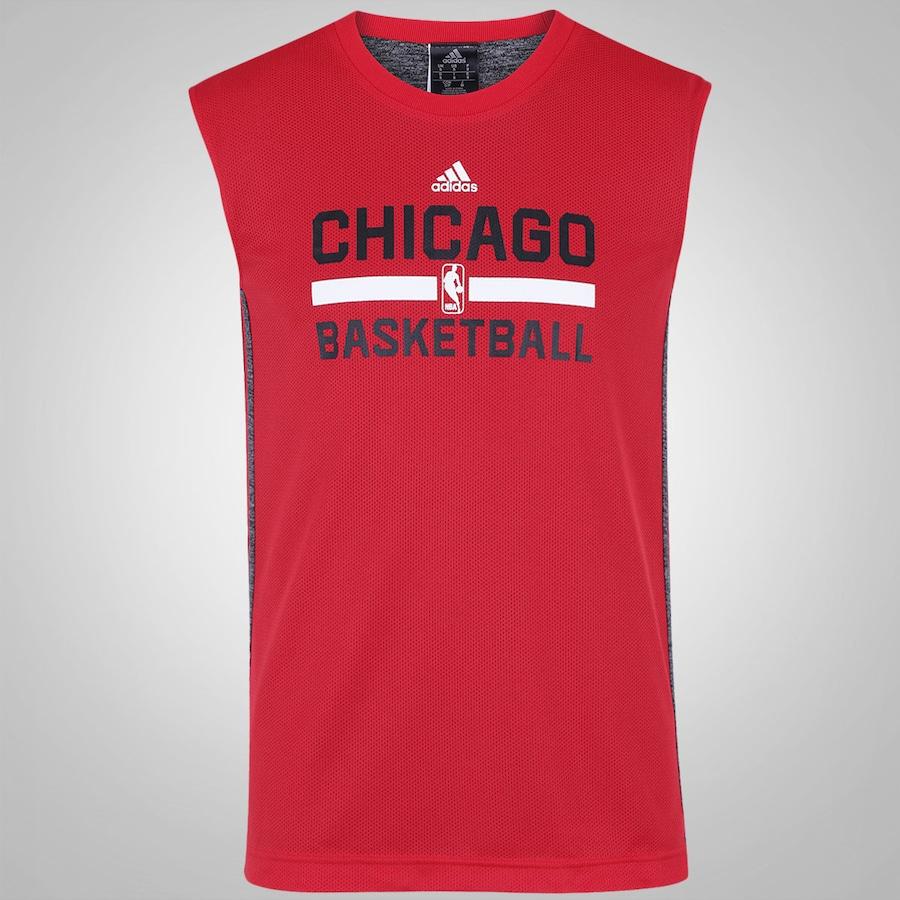 Camiseta Regata adidas NBA Chicago Bulls Reversível aa76cb45d94
