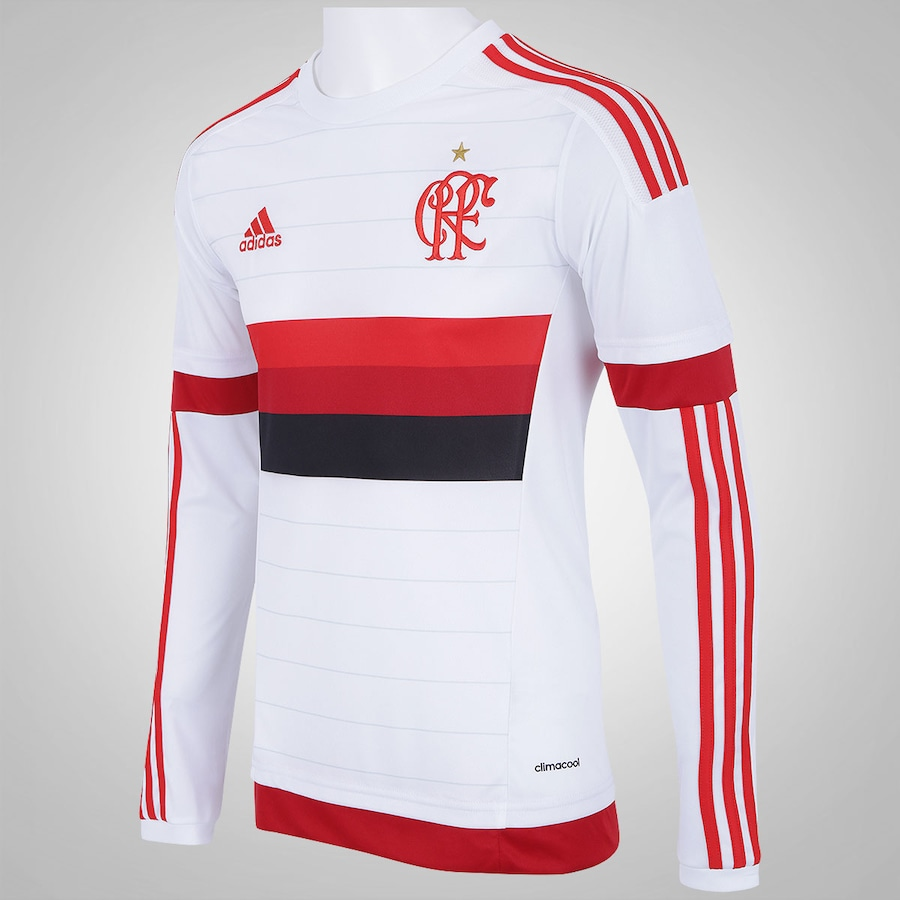 ... Camisa Manga Longa do Flamengo II 2015 s n° adidas - Masculina ... 4e17077840cc0