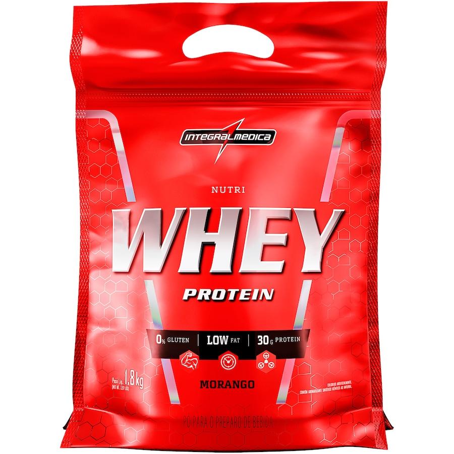 Whey Protein Integralmédica Nutri Whey Protein - Morango - 1,8Kg