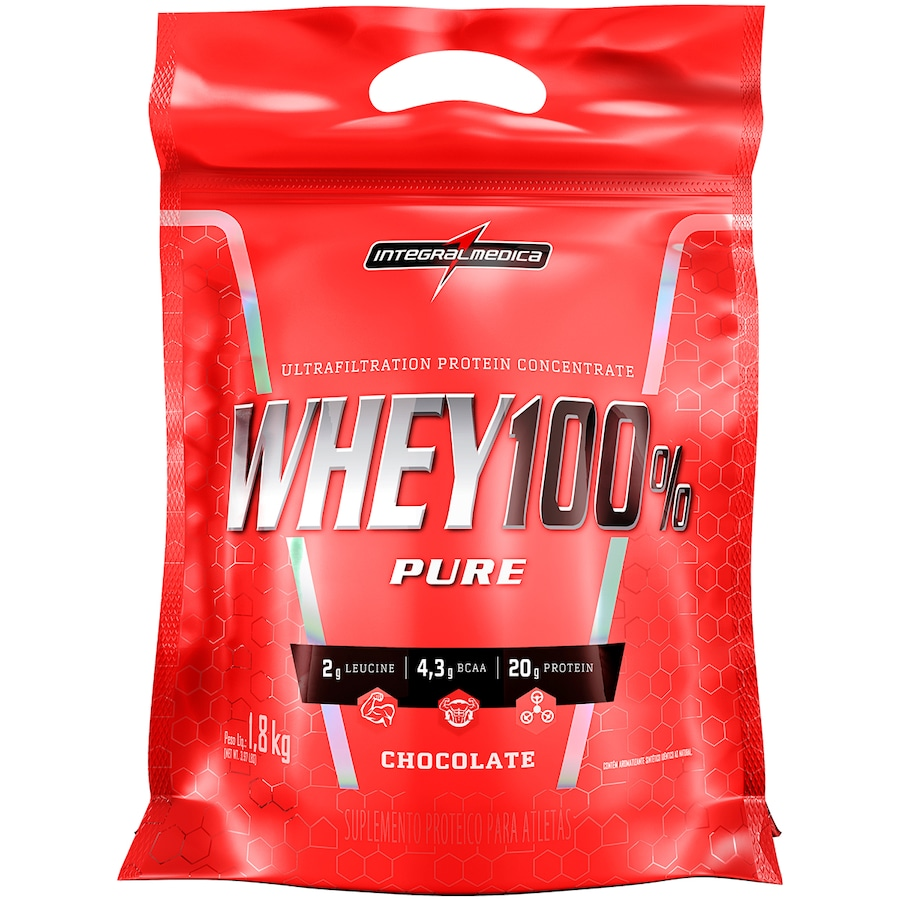 bdf5079a1 Whey Protein Integralmédica Super Whey 100% Pure - Chocolate - 1