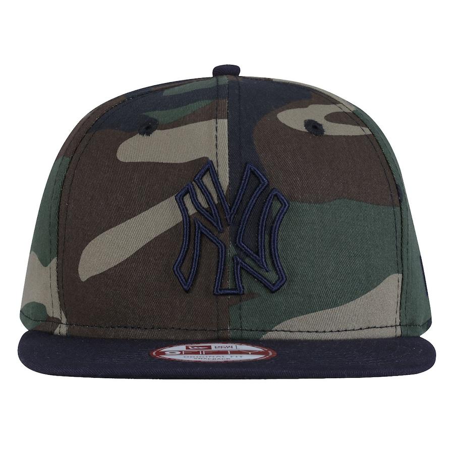 Boné Aba Reta New Era New York Yankees Estampa Camuflagem e65cb5a4185