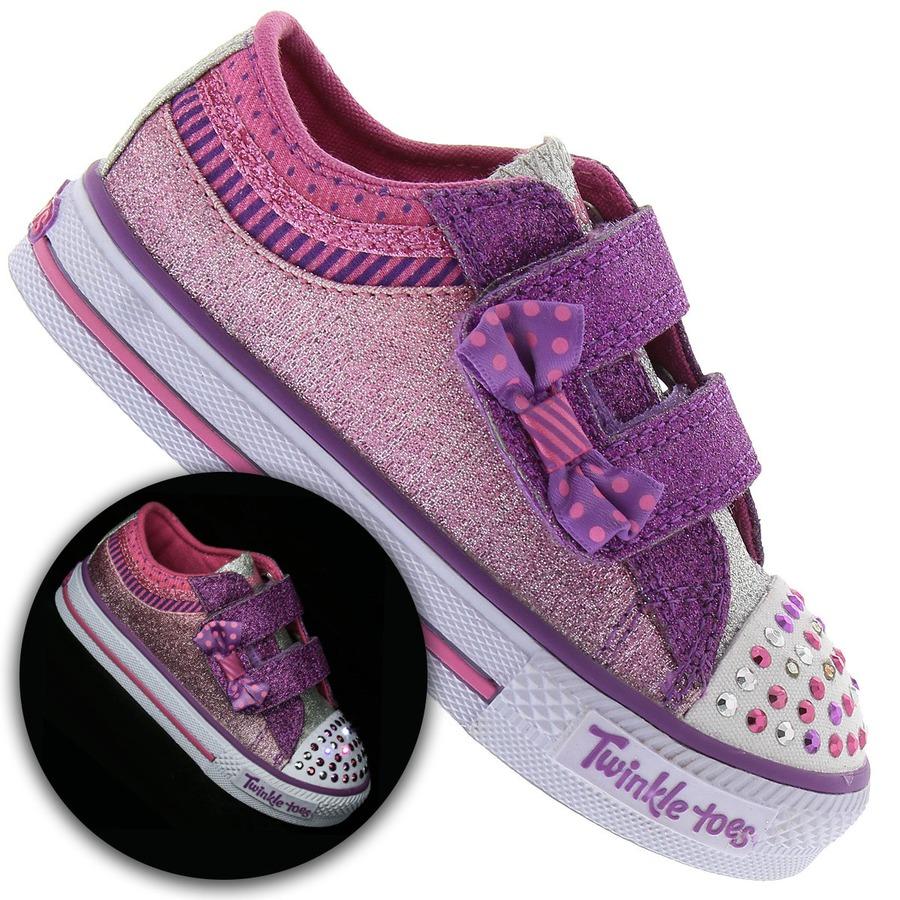 ec69f3e3068 Tênis Skechers Shuffles Bow Buddies Feminino - Infantil