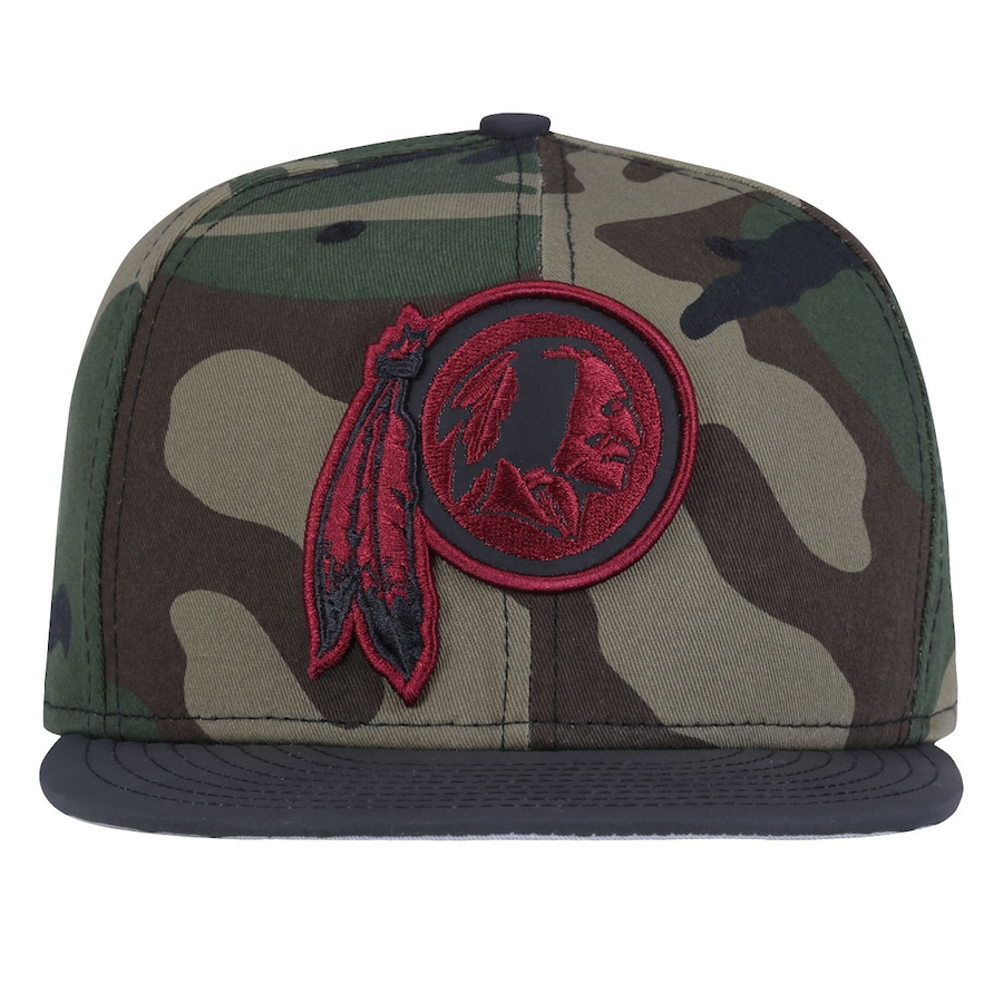 dcff67e9e3595 Boné Aba Reta New Era Washington Redskins Camuflado Fechado