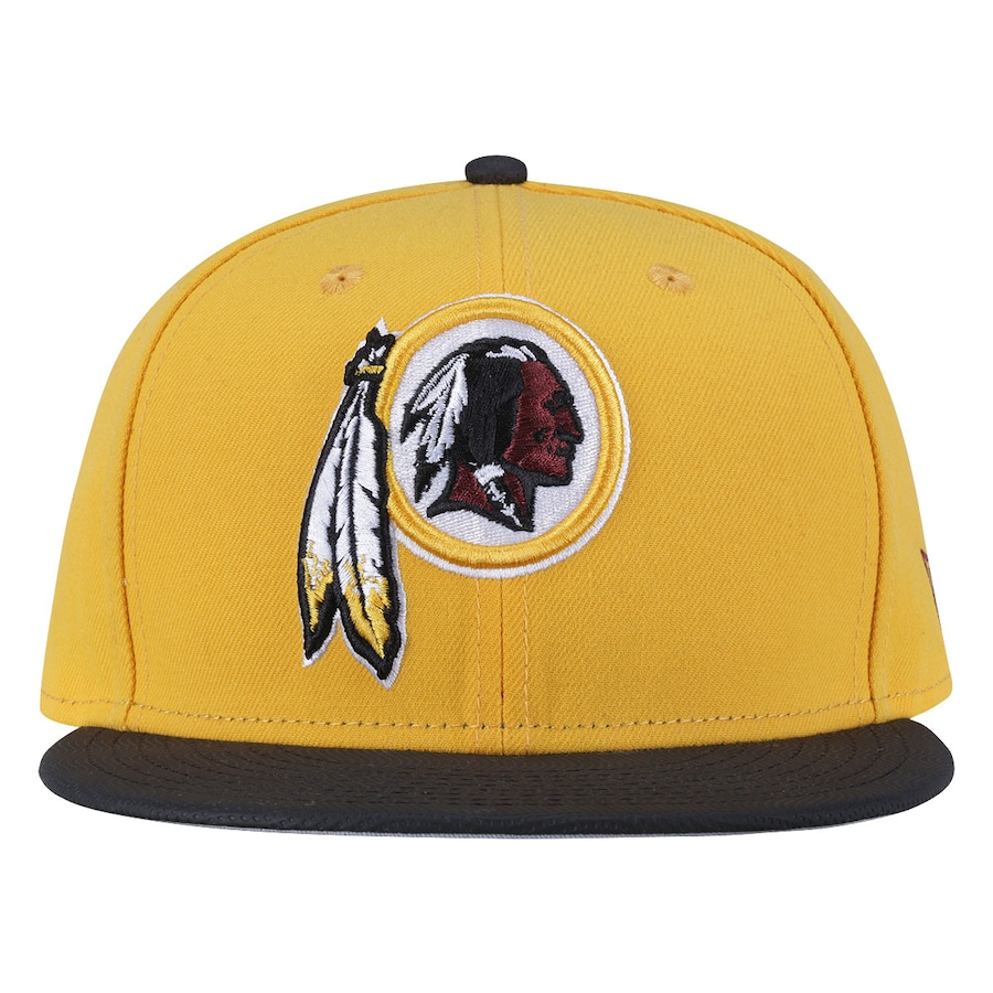 Boné Aba Reta New Era Washington Redskins Preto e Amarelo 83f94c46435